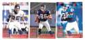 1998 Leaf Rookies and Stars Football (1-300) Team Set - NEW YORK GIANTS