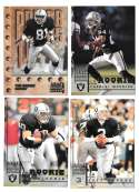 1998 Leaf Rookies and Stars Football (1-300) Team Set - OAKLAND RAIDERS