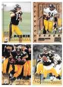1998 Leaf Rookies and Stars Football (1-300) Team Set - PITTSBURGH STEELERS