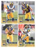 1998 Leaf Rookies and Stars Football (1-300) Team Set - ST. LOUIS RAMS