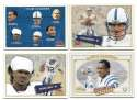 2001 Fleer Tradition Glossy Football (1-400) - INDIANAPOLIS COLTS