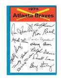 1973 Topps Blue Team Checklist - ATLANTA BRAVES
