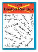 1973 Topps Blue Team Checklist - BOSTON RED SOX