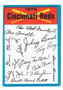 1973 Topps Blue Team Checklist - CINCINNATI REDS