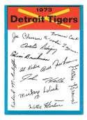 1973 Topps Blue Team Checklist - DETROIT TIGERS
