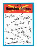 1973 Topps Blue Team Checklist - HOUSTON ASTROS