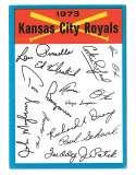 1973 Topps Blue Team Checklist - KANSAS CITY ROYALS