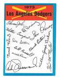 1973 Topps Blue Team Checklist - LOS ANGELES DODGERS
