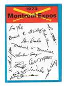 1973 Topps Blue Team Checklist - MONTREAL EXPOS