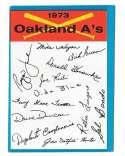 1973 Topps Blue Team Checklist - OAKLAND ATHLETICS / As