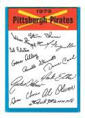 1973 Topps Blue Team Checklist - PITTSBURGH PIRATES