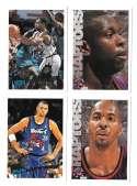 1995-96 Topps Basketball Team Set - Toronto Raptors