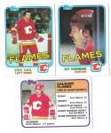 1981-82 Topps Hockey Team Set - Calgary Flames