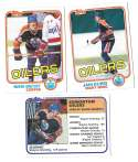 1981-82 Topps Hockey Team Set - Edmonton Oilers