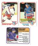 1981-82 Topps Hockey Team Set - New York Rangers