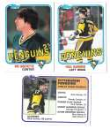 1981-82 Topps Hockey Team Set - Pittsburgh Penguins