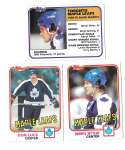 1981-82 Topps Hockey Team Set - Toronto Maple Leafs