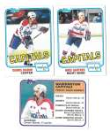 1981-82 Topps Hockey Team Set - Washington Capitals