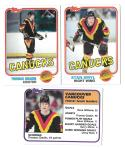 1981-82 Topps Hockey Team Set - Vancouver Canucks