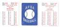 1936 APBA Season - BOSTON BEES (BRAVES) Team Set