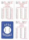 1936 APBA Season - BOSTON RED SOX Team Set