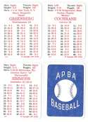 1936 APBA Season - DETROIT TIGERS Team Set