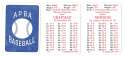 1936 APBA Season - WASHINGTON SENATORS (TWINS) Team Set