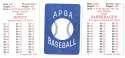 1986 APBA Season - KANSAS CITY ROYALS Team Set