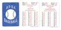 1986 APBA Season - SEATTLE MARINERS Team Set