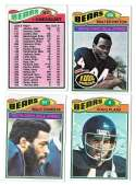 1977 Topps Football (C) Team Set - CHICAGO BEARS