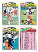 1977 Topps Football (C) Team Set - CLEVELAND BROWNS