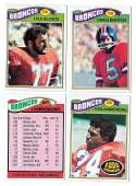 1977 Topps Football (C) Team Set - DENVER BRONCOS
