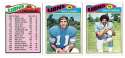 1977 Topps Football (C) Team Set - DETROIT LIONS