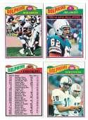 1977 Topps Football (C) Team Set - MIAMI DOLPHINS