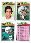 1977 Topps Football (C) Team Set - NEW YORK JETS