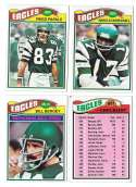 1977 Topps Football (C) Team Set - PHILADELPHIA EAGLES
