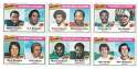 1977 Topps Football (C) - 6 card League Leaders set