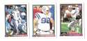 1991 Bowman Football Team Set - INDIANAPOLIS COLTS