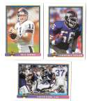 1991 Bowman Football Team Set - NEW YORK GIANTS