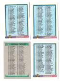 1991 Bowman Football 4 card checklist set