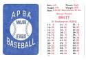 1979 APBA Season - KANSAS CITY ROYALS Team Set