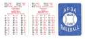 1979 APBA Season w/ Extra Players - ATLANTA BRAVES Team Set
