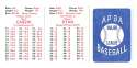 1979 APBA Season w/ Extra Players - CALIFORNIA ANGELS Team set