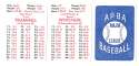 1979 APBA Season w/ Extra Players - DETROIT TIGERS Team Set