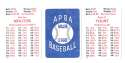 1979 APBA Season w/ Extra Players - MILWAUKEE BREWERS Team Set