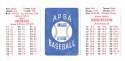 1979 APBA Season w/ Extra Players - OAKLAND As Team set w/ Rickey Henderson