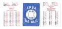 1979 APBA Season w/ Extra Players - SAN FRANCISCO GIANTS Team Set