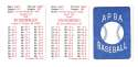 1986 APBA Season w/ EX Players - CHICAGO CUBS Team Set