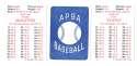 1986 APBA Season w/ EX Players - MILWAUKEE BREWERS Team Set