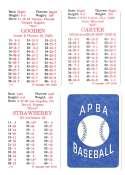 1986 APBA Season w/ EX Players - NEW YORK METS Team Set